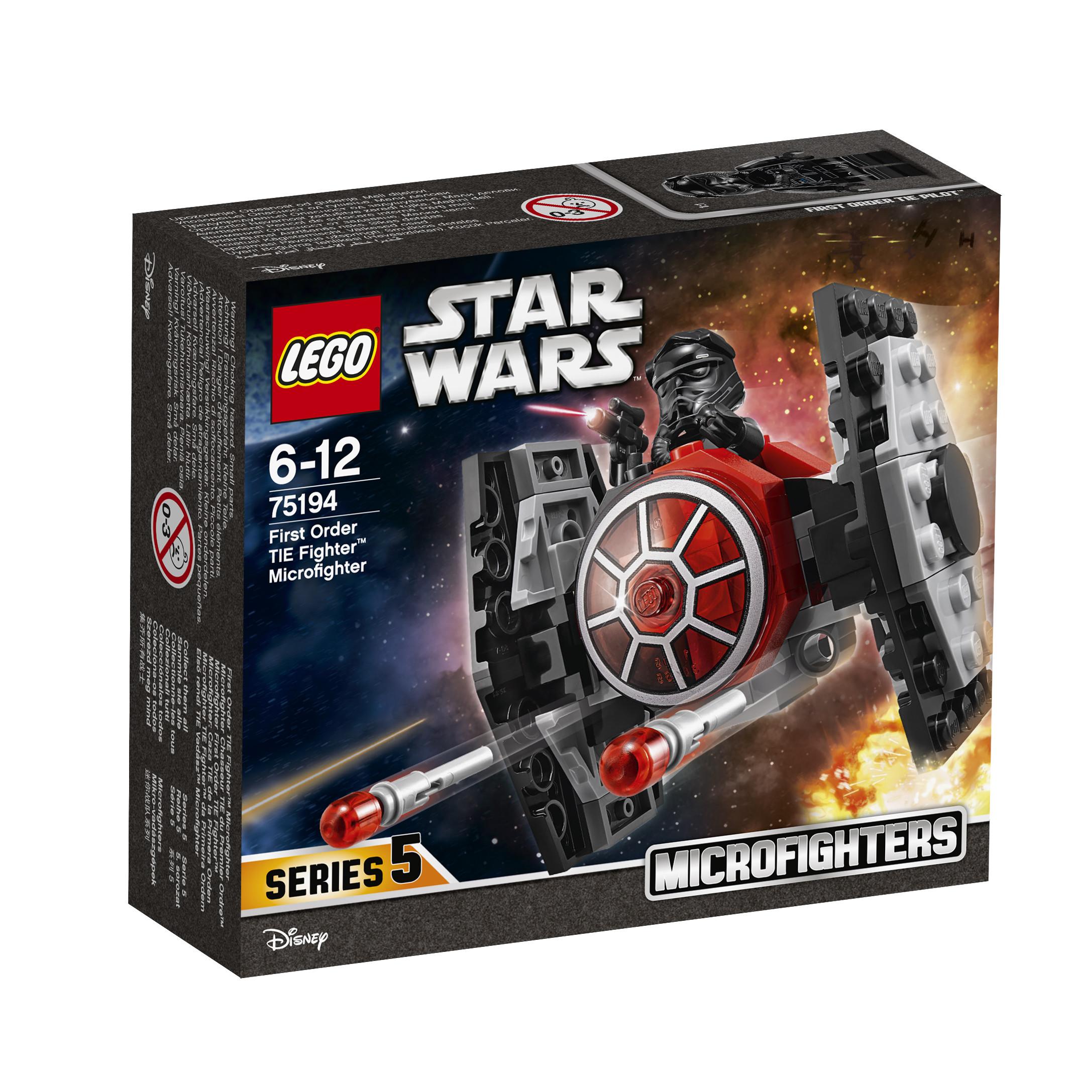 Конструктор LEGO Star Wars 75194 Микрофайтер Истребитель СИД Первого Ордена конструктор lego star wars истребитель сопротивления типа икс 740 элементов 75149