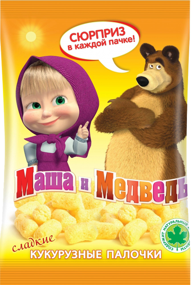 Кукурузные палочки Маша и Медведь Маша и Медведь 75 г лопстики кукурузные палочки сладкие 130 г