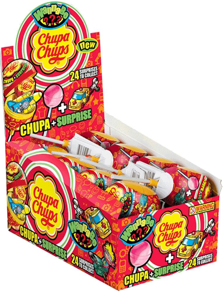 Десерты Chupa Chups Карамель леденцовая Chupa Chups «Сюрприз» 12 г в асс. ароматизатор chupa chups chp502