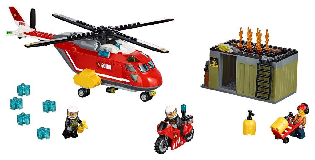 LEGO LEGO City Пожарная команда быстрого реагирования (60108) конструктор lego 60108 city пожарная команда быстрого реагирования