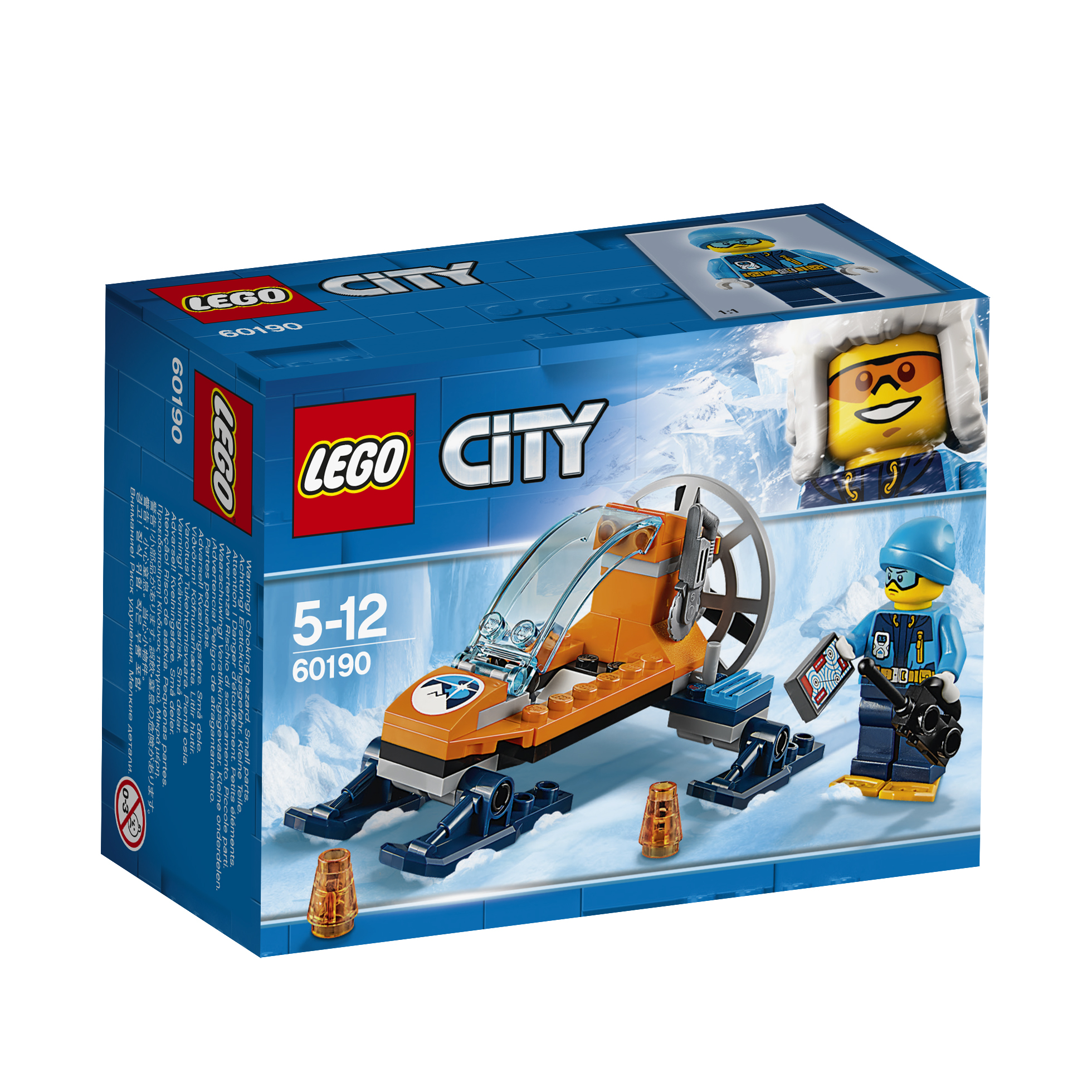 LEGO LEGO Конструктор LEGO City Arctic Expedition 60190 Аэросани model building kits compatible with lego city formula car 668 3d blocks educational model