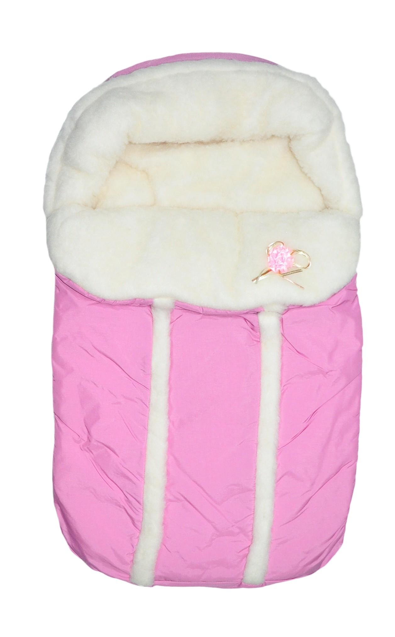 Конверт меховой Арго Зима розовый конверт на выписку супермамкет justcute совы зима флис бант