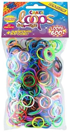 Украшения СRAZE LOOPS Набор для плетения браслетов Craze Loops 600 Mix наборы для плетения набор для плетения в органайзере весёлые пятнашки 292 rb
