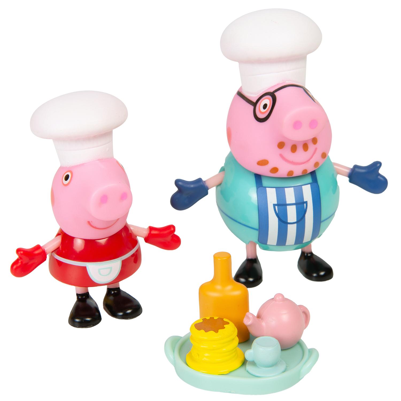 Игровой набор Peppa Pig Свинка Пеппа и Папа пекут блинчики, 5 предметов
