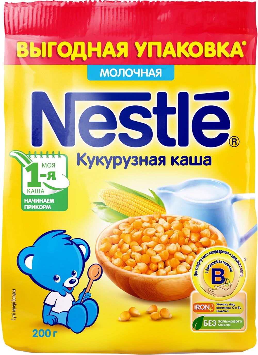 Детские каши Nestle Nestlé Молочная кукурузная (с 5 месяцев) 200 г все цены