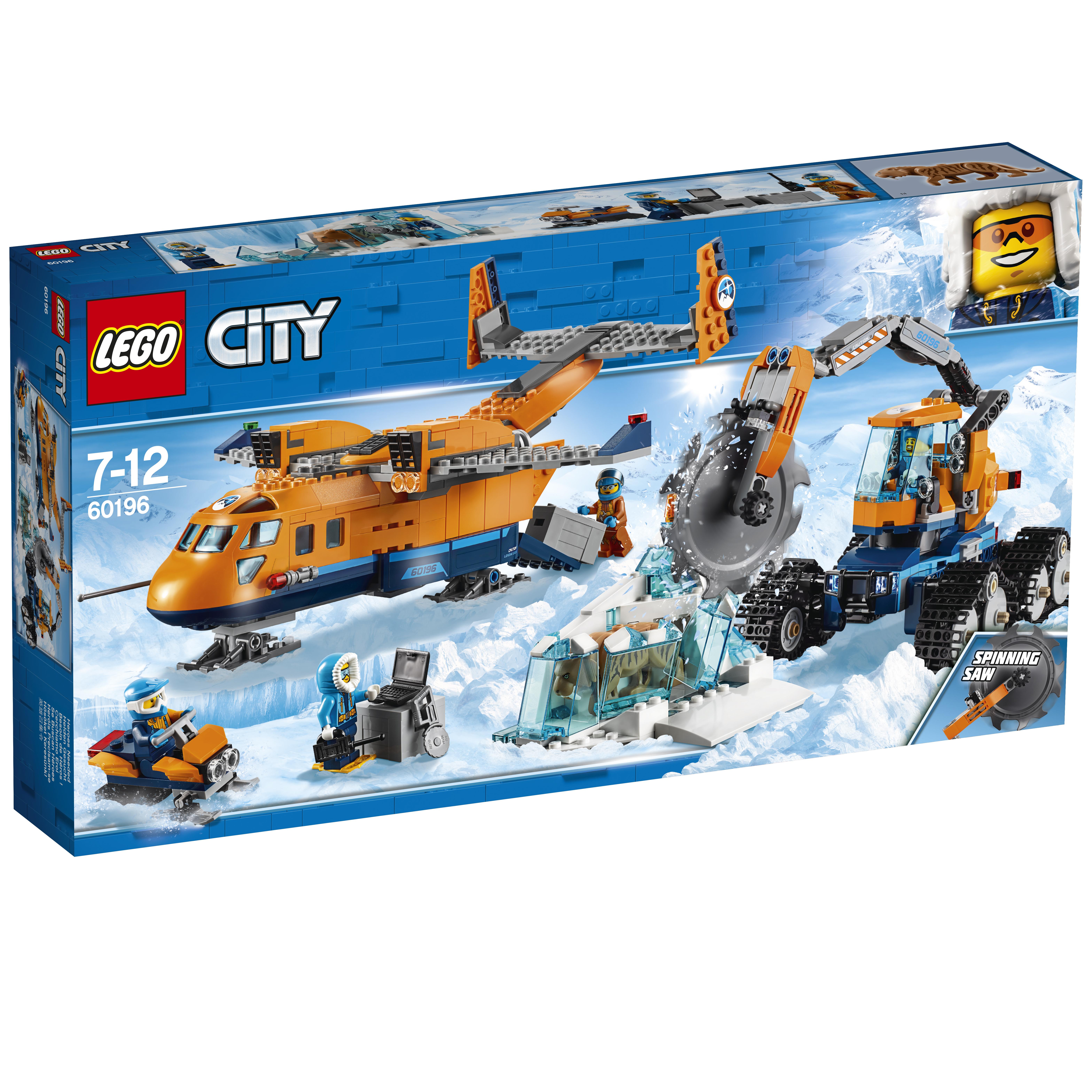 Конструктор LEGO City Arctic Expediti 60196 Арктический грузовой самолёт билеты на самолёт