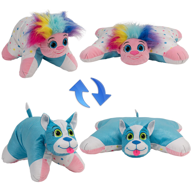 Мягкие игрушки 1toy Мягкая игрушка 1toy «Вывернушка-подушка. Тролль-Щенок» плюшевые аниме подушки игрушки wow sm288