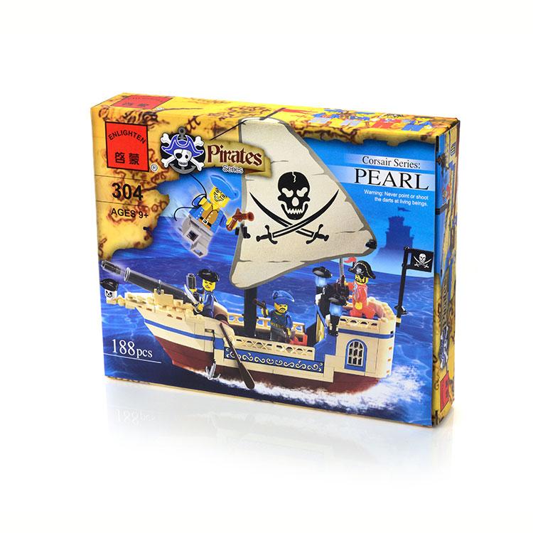 Пластмассовые Enlighten Brick Конструктор Enlighten Brick «Pirates. Pearl» 188 дет. конструктор enlighten brick the war of glory 2313 justice mecha 372 дет 243957
