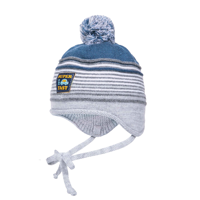 Купить Головные уборы, Шапка-ушанка для мальчика Barkito светло-серый, Россия, светло-серый, серо-голубой, Мужской
