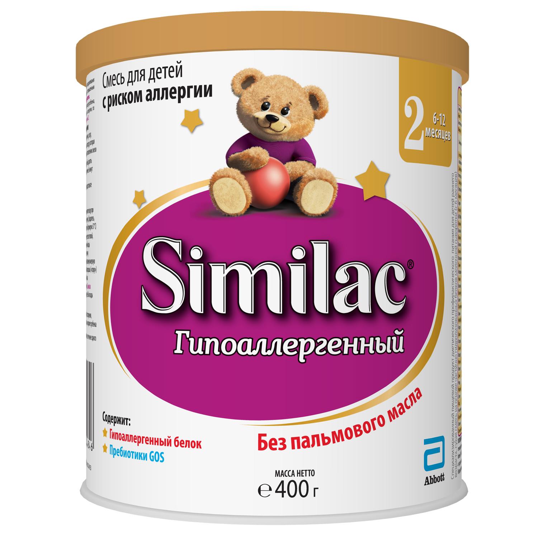 Молочная смесь Similac Similac (Abbott) Гипоаллергенный 2 (6-12 месяцев) 400 г md мил sp козочка 2 молочная смесь с 6 до 12 месяцев 400 г