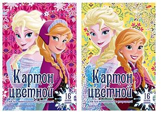 Купить Цветной картон, Frozen 10 листов, 1шт., Frozen 121209, Россия, Женский