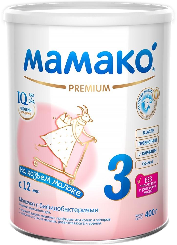Молочная смесь МАМАКО' Мамако-3 Premium 12 мес. 400 г мамако 3 молочко детское с бифидобактериями на основе козьего молока с 1 года 800г