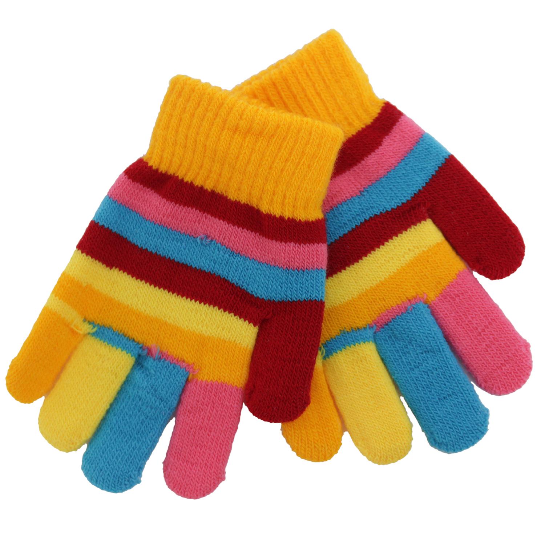 Купить Варежки и перчатки, Перчатки для девочки Принчипесса разноцветные, Китай, оранжевый, желтый, голубой, розовый, красный, Женский