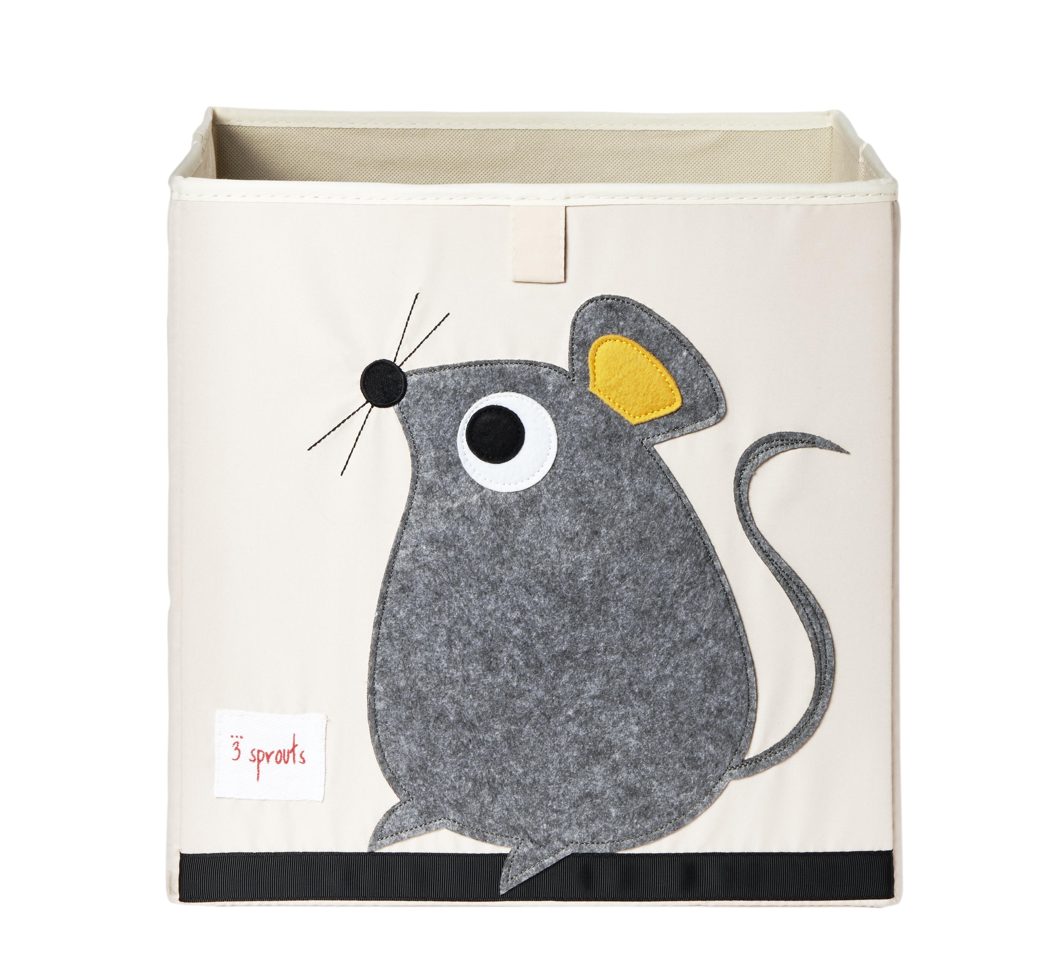Ящики и корзины для игрушек 3 Sprouts Коробка для хранения 3 Sprouts «Gray Mouse»
