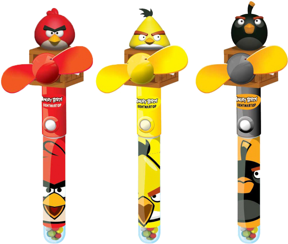 Десерты Конфитрейд Конфитрейд Angry Birds «Вентилятор» с игрушкой в тубе 10 г в ассортименте конфитрейд космические гонки фруктовое драже с игрушкой 5 г