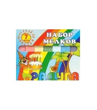 Мелки Пегас цветные 7шт по 12,5 г набор цветных мелков melompo mel 8