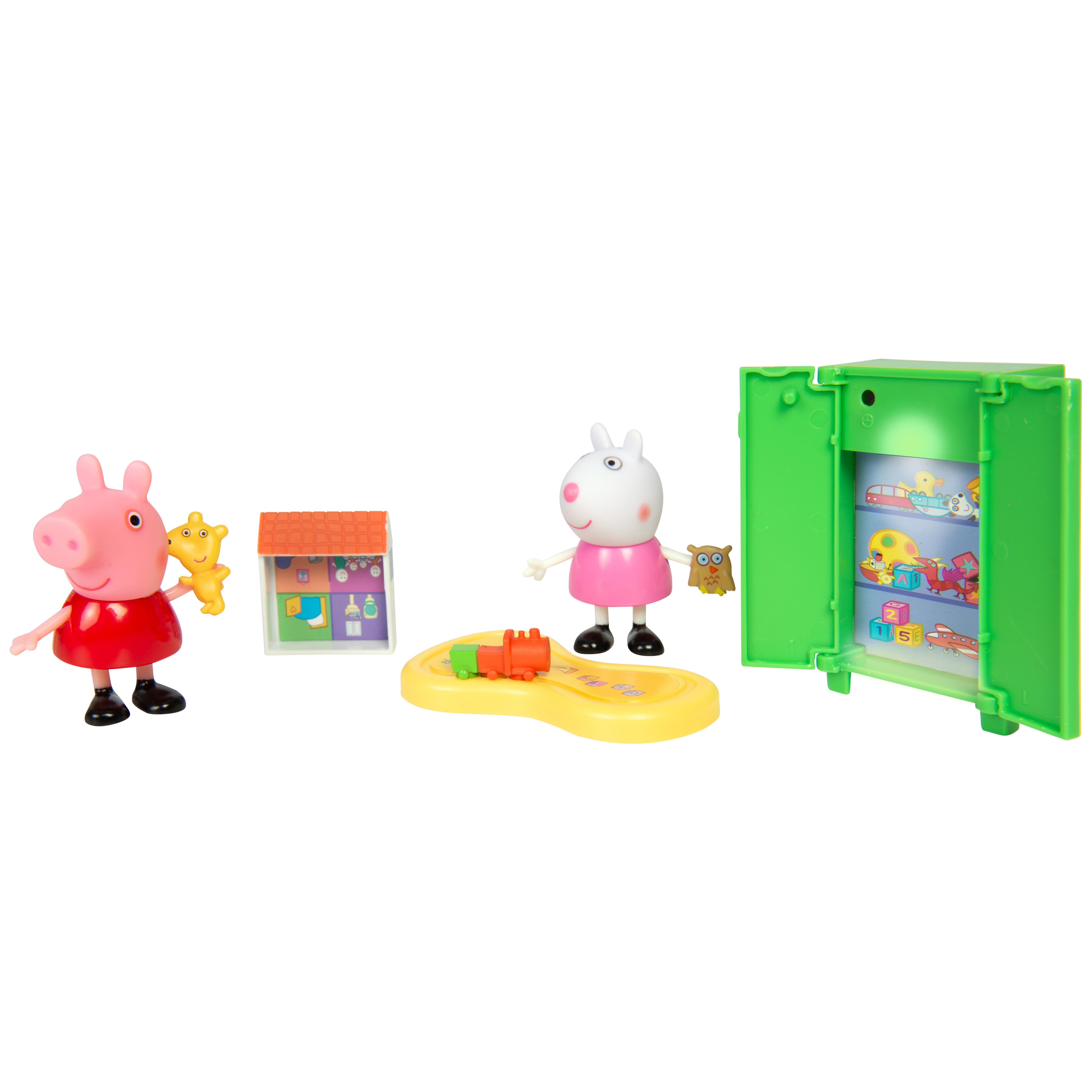 Фото - Игровой набор Peppa Pig Свинка Пеппа и Сьюзи играют в игры, 5 предметов игровой набор peppa pig пеппа и сьюзи 2 предмета 28816