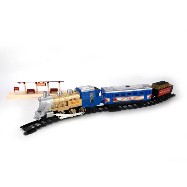 Наборы игрушечных железных дорог, локомотивы, вагоны Играем вместе Красная Стрела николаевич с нубина е сост красная стрела 85 лет легенде