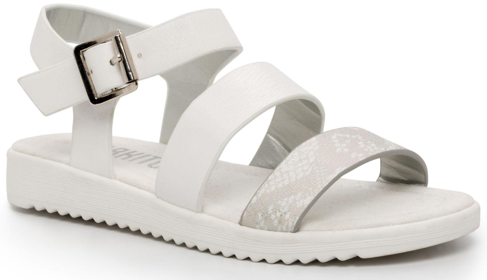 Босоножки Barkito Туфли летние ремешковые для девочки Barkito, белые цены онлайн