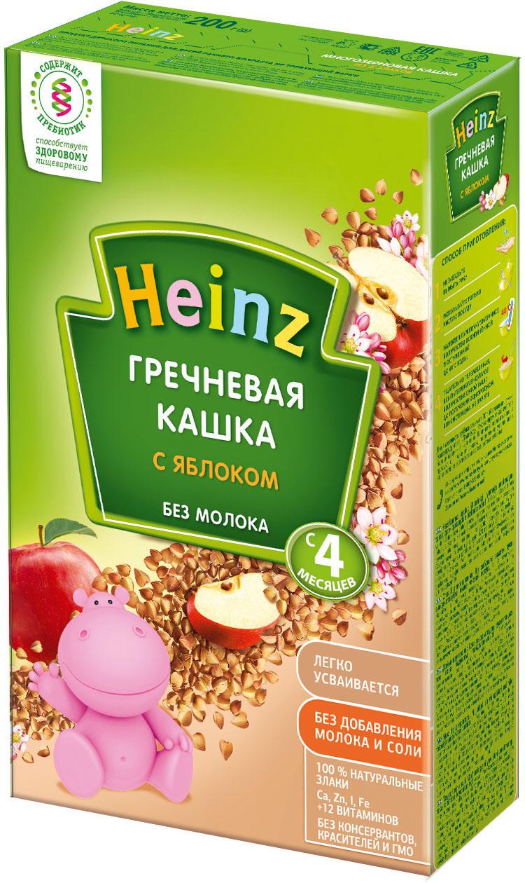 Безмолочные Heinz Heinz Безмолочная гречневая с яблоком (c 4 месяцев) 200 г heinz каша гречневая с яблоком с 4 месяцев 200 г