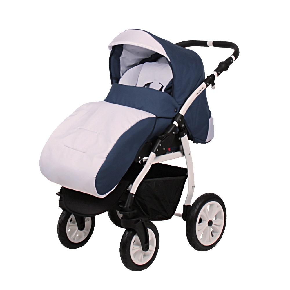 Классическая коляска 2 в 1 Indigo Sydney'17 синий с серым