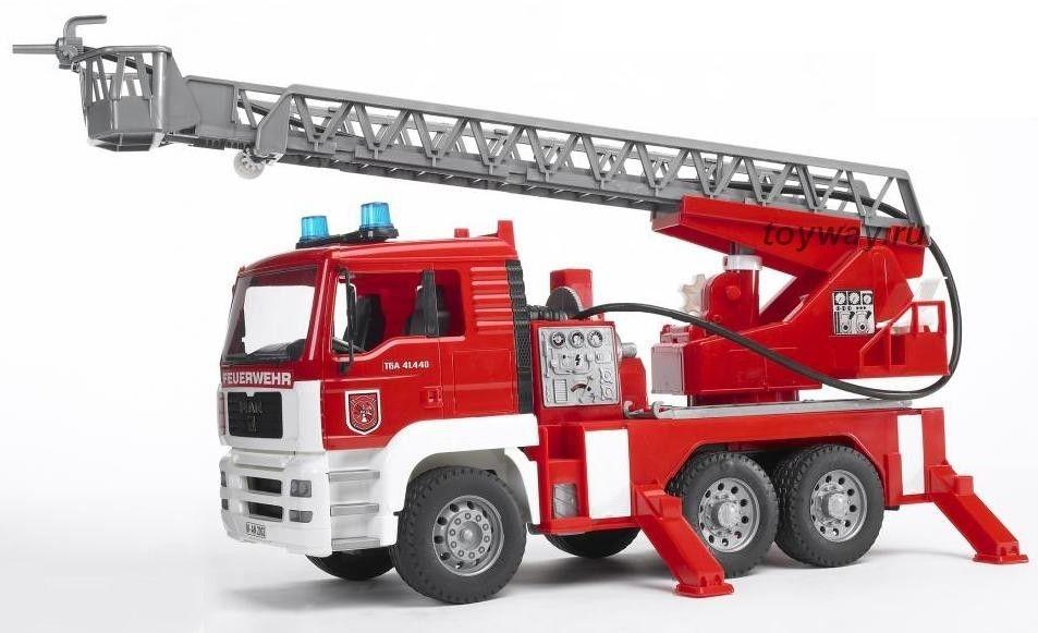 Машина Bruder «Пожарная машина MAN 02-771» с лестницей и помпой цены онлайн