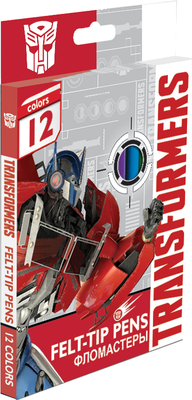 Фломастеры Transformers Набор цветных фломастеров Transformers «Prime» 12 шт. 2018 new transformers building blocks bumblebee optimus prime puzzle assembled toys gifts for children