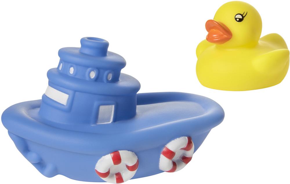 Детские игрушки для ванной Курносики Лодка с утенком игрушки для ванны fun time игрушка для ванной лодка морская звезда кит 5027