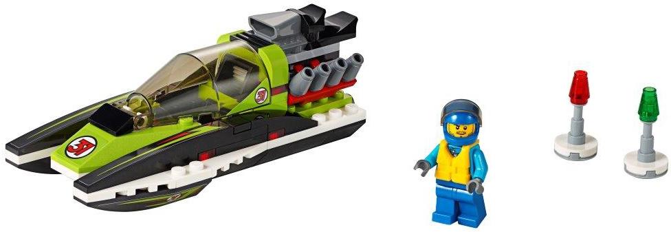 LEGO LEGO City Гоночный катер конструкторы lego lego city great vehicles рыболовный катер 60147