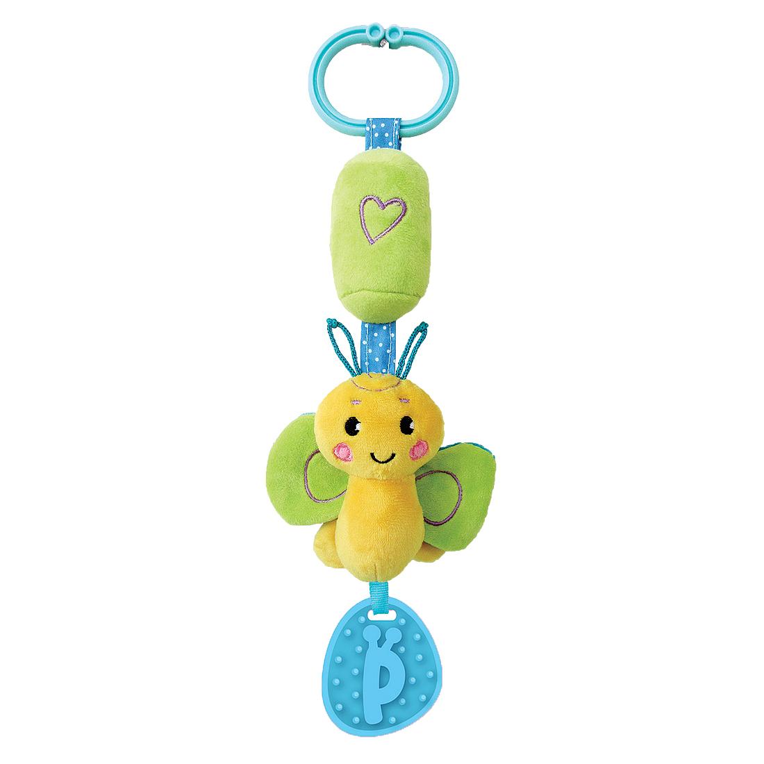 Прорезыватели Жирафики Бабочка развивающая игрушка жирафики подвеска с колокольчиком и прорезывателем собачка билли 939329