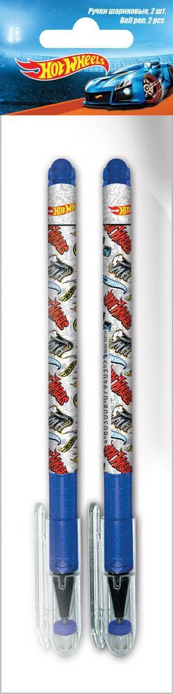 Ручки и карандаши Hot Wheels Набор шариковых ручек Hot Wheels синий 2 шт. набор смешарики 8 цветных ручек шариковых автоматических 0 7 мм в пвх упаковке с подвесом 84159