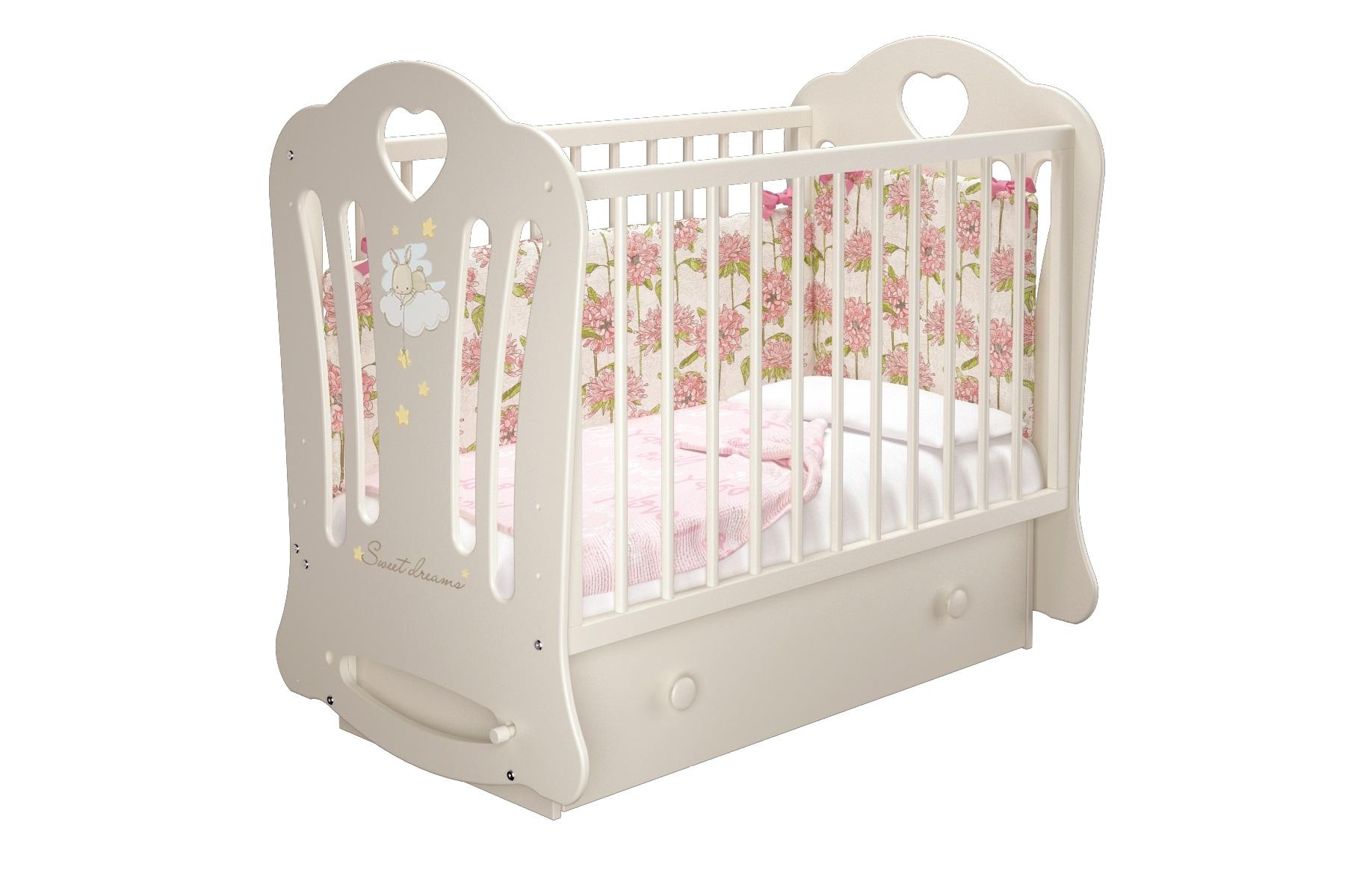 Кроватки детские Laluca Шарлотта (маятник)