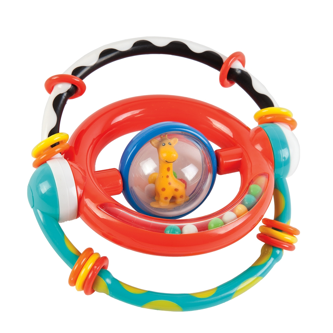 Развивающая игрушка Наша игрушка Умный жирафик погремушки жирафики прорезыватель радужный жирафик