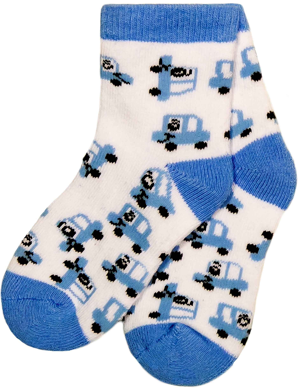 Носки Barkito Носки махровые для мальчика Barkito, белые с рисунком машинки igrobeauty тапочки махровые открытый мыс белые на нескользящей подошве спанбонд очка