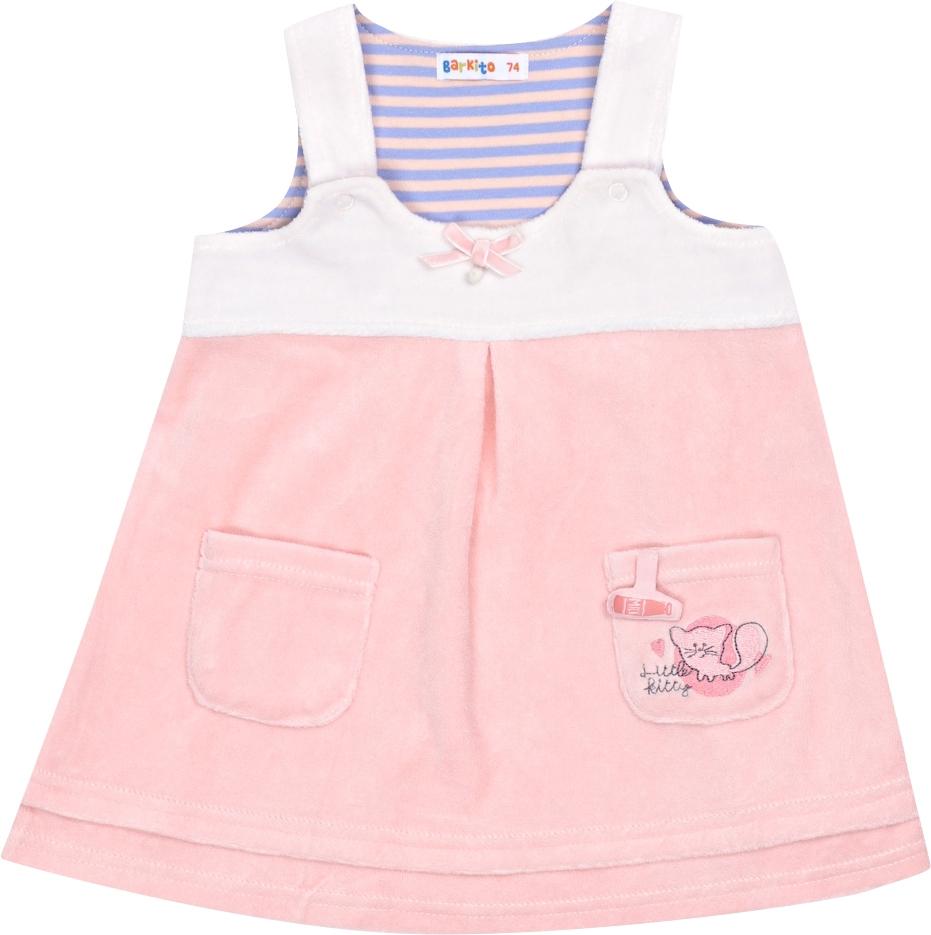 Платья и сарафаны Barkito Сарафан для девочки Кошки-Мышки Barkito розовый dress emma monti платья и сарафаны приталенные