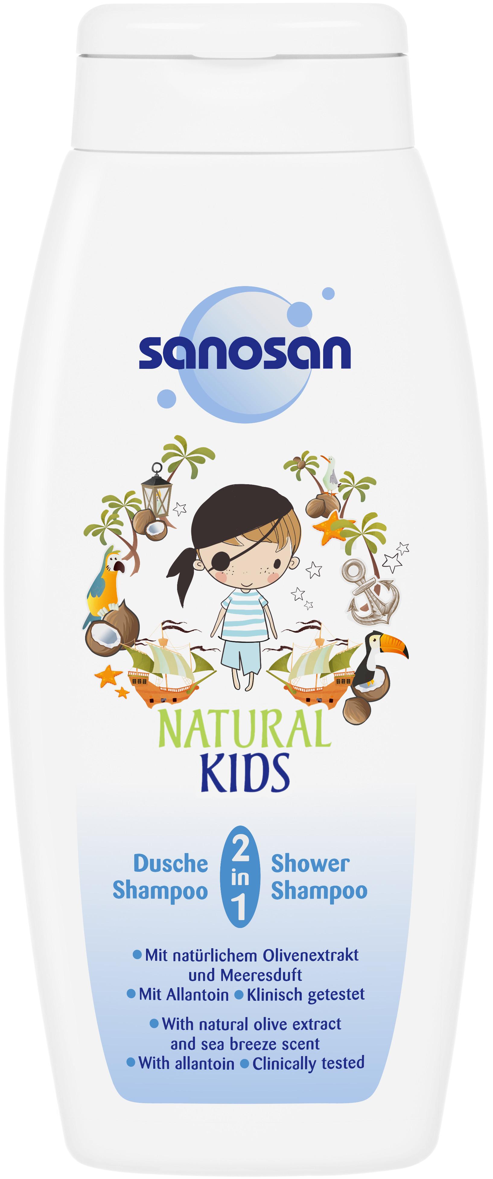 Шампуни и бальзамы Sanosan Средство 2 в 1 Sanosan гель для душа и шампунь для мальчиков 250 мл