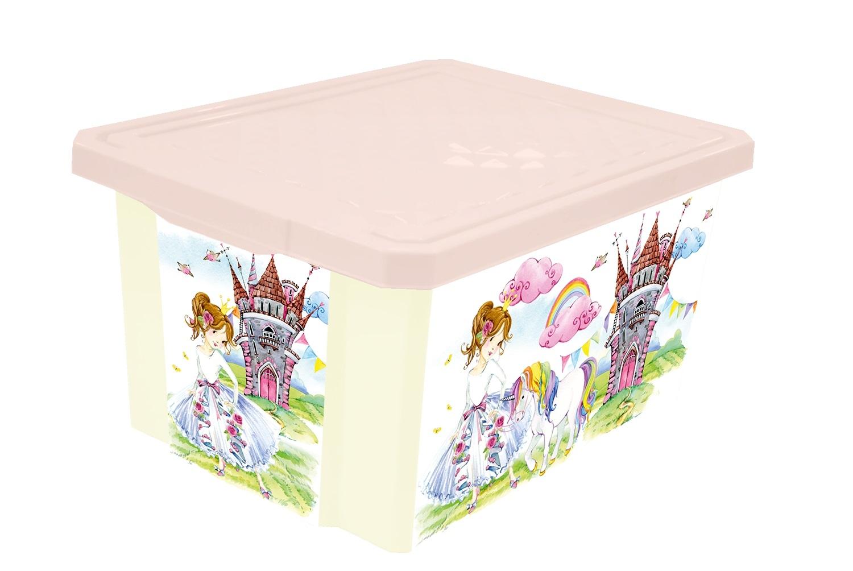 Ящик для игрушек Little Angel Сказочная Принцесса LA1027 ящики для игрушек little angel ящик для хранения systema 5 1 л