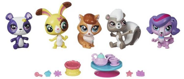 купить Мини-набор Hasbro Пет Шоп с 5 зверюшками и аксессуарами