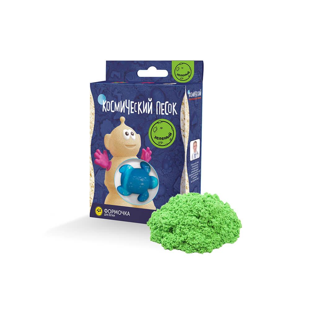 Кинетический песок, Зеленый, Космический песок, Россия, green  - купить со скидкой