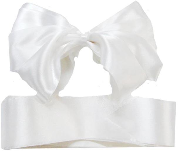 Комплект из атласных лент на выписку Арго 0100/ЛБ белые супермамкет конверт на выписку justcute совы роз лето бант jcl sov r bt