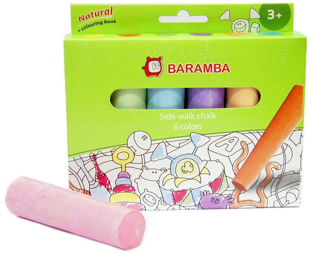 Мел асфальтовый Baramba Baramba 6 шт. мелки molly для рисования белые 6 шт