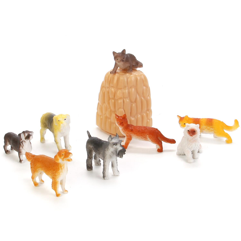 Фигурки животных Играем вместе Набор фигурок домашних животных 8 шт. в ассортименте grossery gang набор фигурок пакет чипсов 10 шт