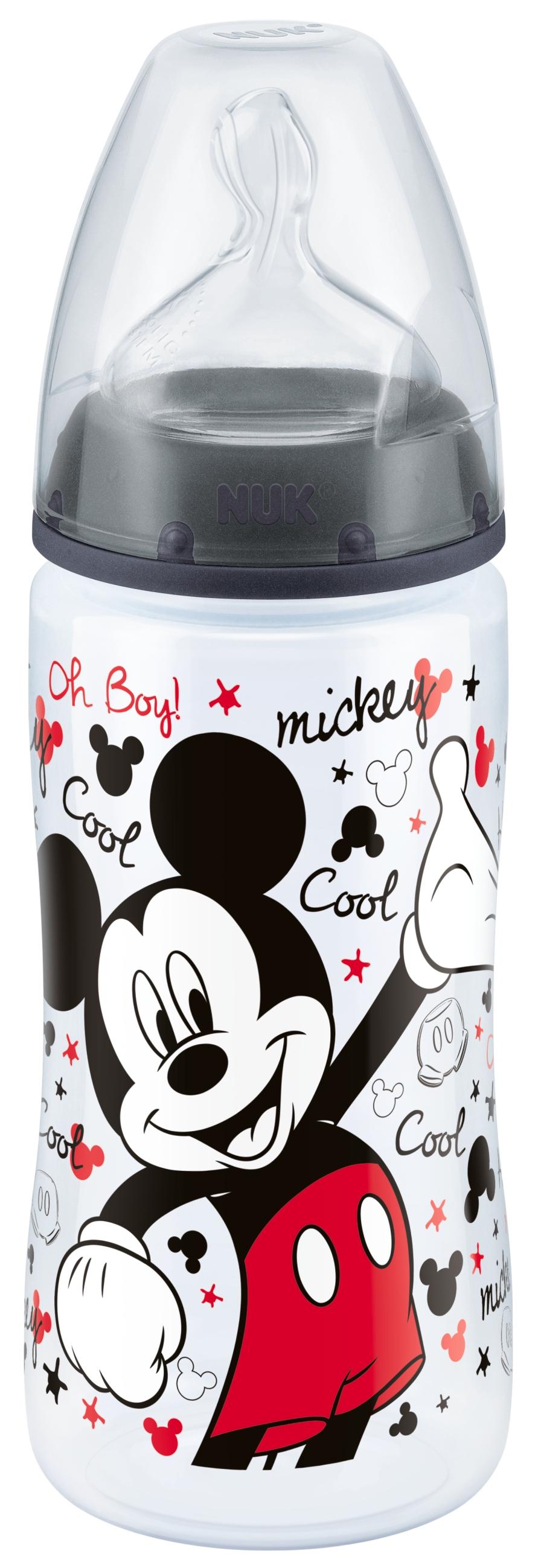 Пластиковая бутылочка NUK First Choice Plus Disney с соской М 300 мл цена и фото