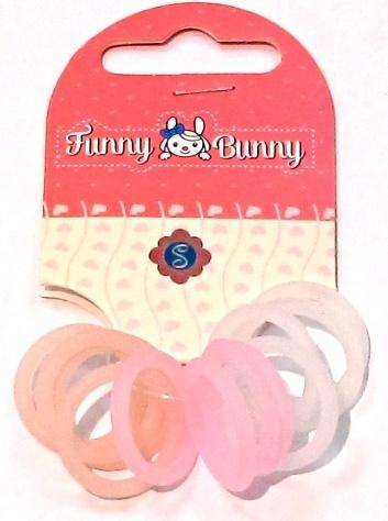 Резинки Funny Bunny для волос 12 шт. невидимка для волос funny bunny розовые цветы 2 шт