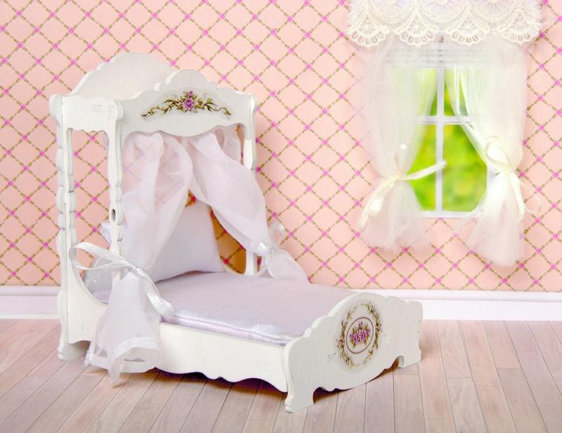 Аксессуары ЯиГрушка Игровой набор мебели ЯиГрушка «Прованс» кровать, матрас, подушка аксессуары яигрушка игровой набор яигрушка прованс шкаф и консоль