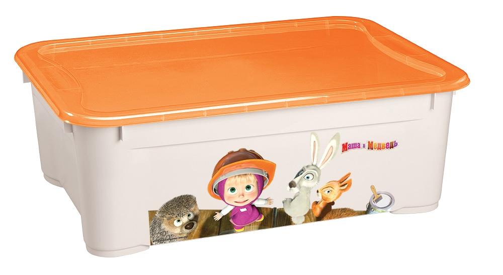 Ящик для игрушек Пластишка Маша и Медведь ящики для игрушек альтернатива башпласт контейнер для игрушек феи