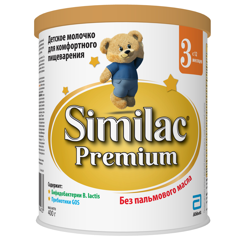 Молочная смесь Similac Similac (Abbott) Premium 3 с 12 месяцев 400 г сухие similac similac abbott premium 3 с 12 месяцев 900 г