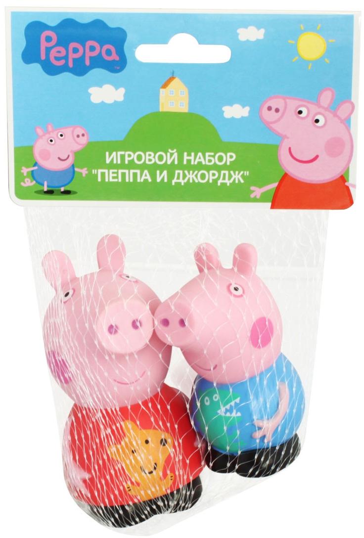 Фото - Игровой набор Peppa Pig Пеппа и Джордж игровой набор peppa pig пеппа и сьюзи 2 предмета 28816