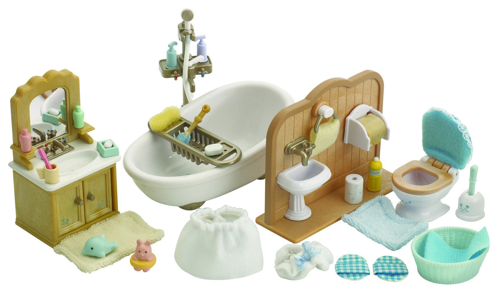 SYLVANIAN FAMILIES Игровой набор Sylvanian Families «Ванная комната» игровой набор sylvanian families детская комната розовая с белым