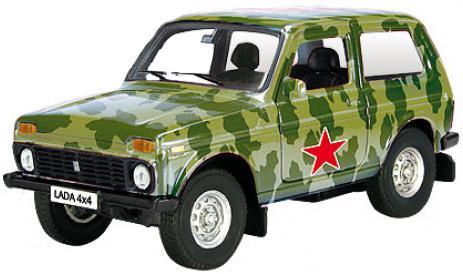 Машинки и мотоциклы AUTOTIME Lada 4x4 Армейская 1:36 игрушка autotime lada granta тест драйв 33961w rus
